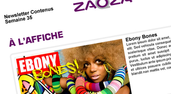 Newsletter zaOza Bienvenue