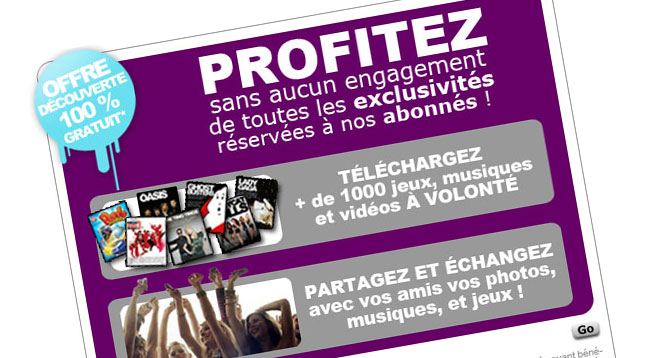 Proposition de Pop-Up